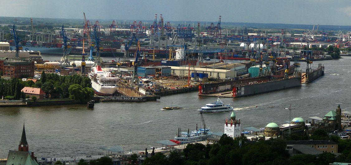 Nahe Hamburger Hafen